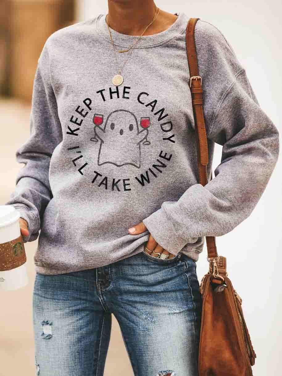 Keep The Candy I'll Take Wine Pullover
