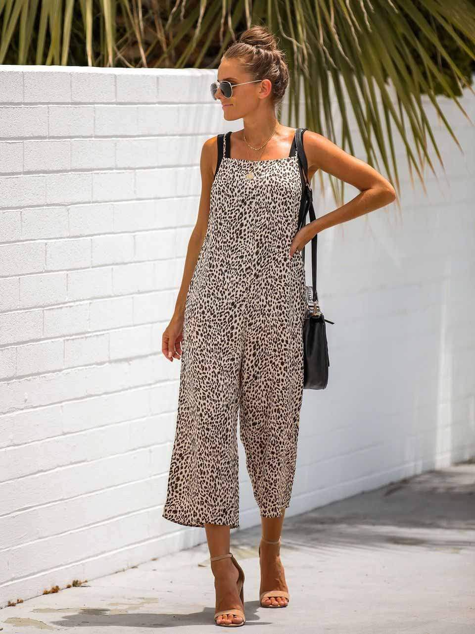 Leopard Print Relaxed Jumpsuit
