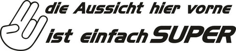 Image of Aufkleber Spruch Autoaufkleber Sticker The Shocker Hand Wandtattoo
