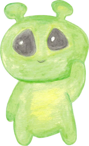 Image of Bügelsticker Alien Aquarell