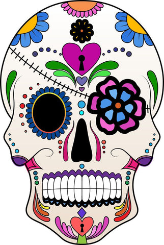 Image of Bügelsticker Sugar Skull4