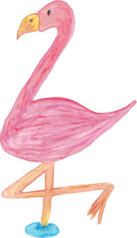 Bügelsticker Flamingo Aquarell
