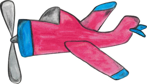 Image of Bügelsticker Flugzeug Aquarell