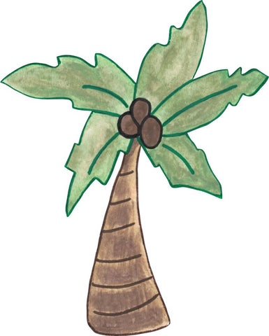 Image of Bügelsticker Palme Aquarell