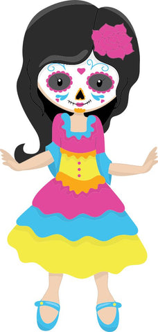Image of Bügelsticker Halloween Catrina