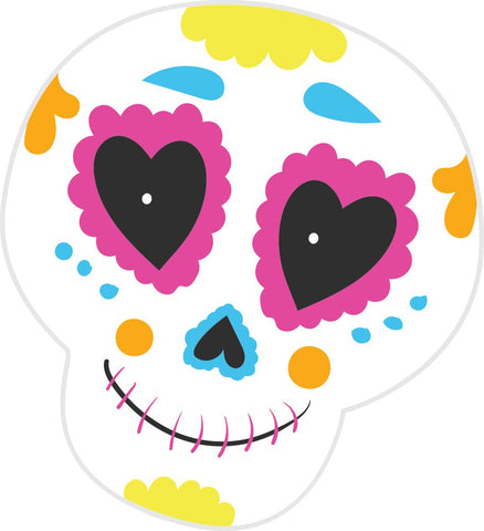 Bügelsticker Halloween Sugar Skull 1
