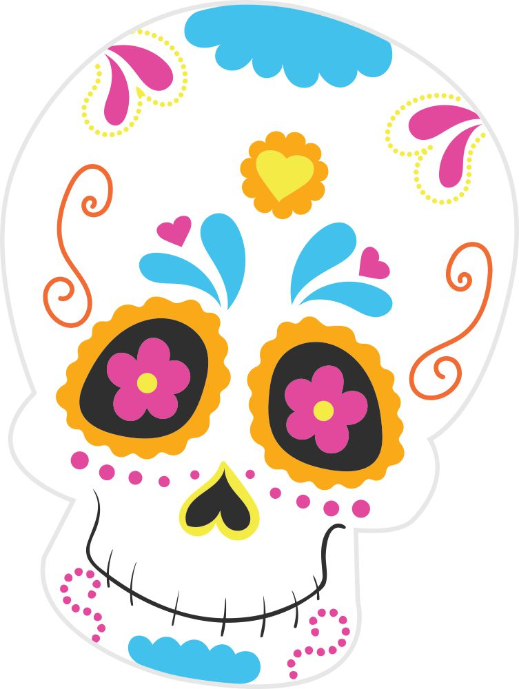 Bügelsticker Halloween Sugar Skull 3