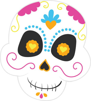 Bügelsticker Halloween Sugar Skull 4
