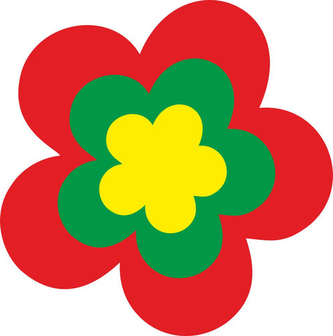 Image of Bügelsticker Retro Blume 2