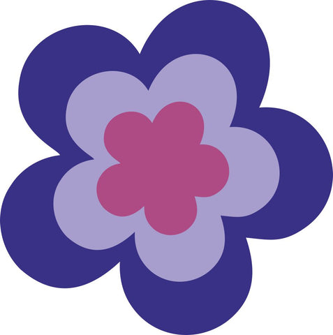 Image of Bügelsticker Retro Blume 4