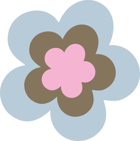 Image of Bügelsticker Retro Blume 10