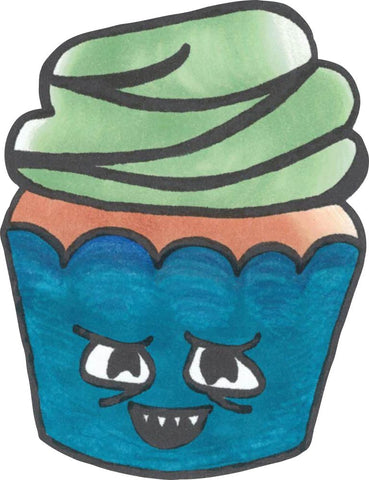 Image of Bügelsticker Muffin Böse