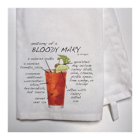 Bar Towel - Anatomy of Your Favorite Cocktail Houseware Dishique Bloody Mary