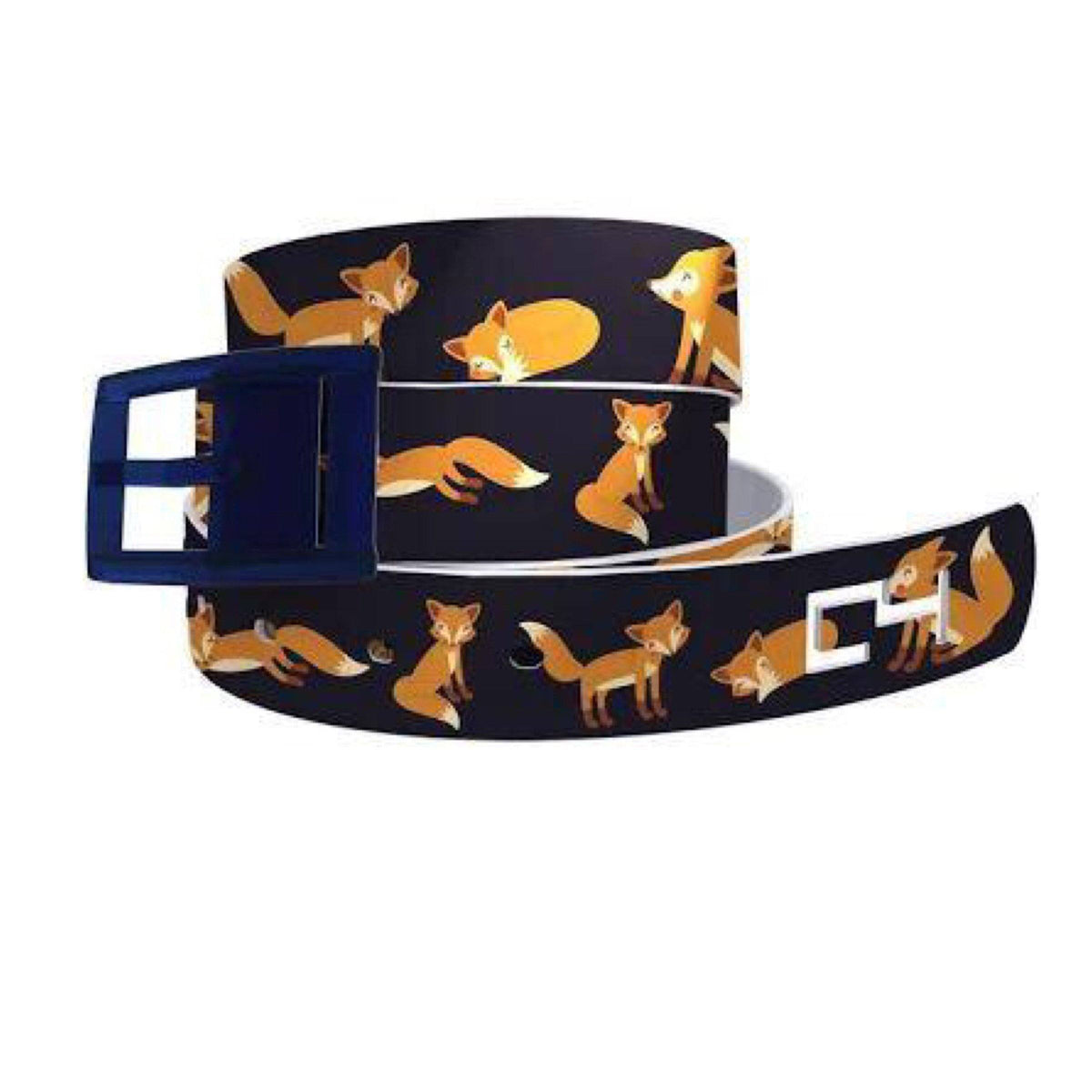 Belts - Matte Buckle C4 Foxes Playing Navy