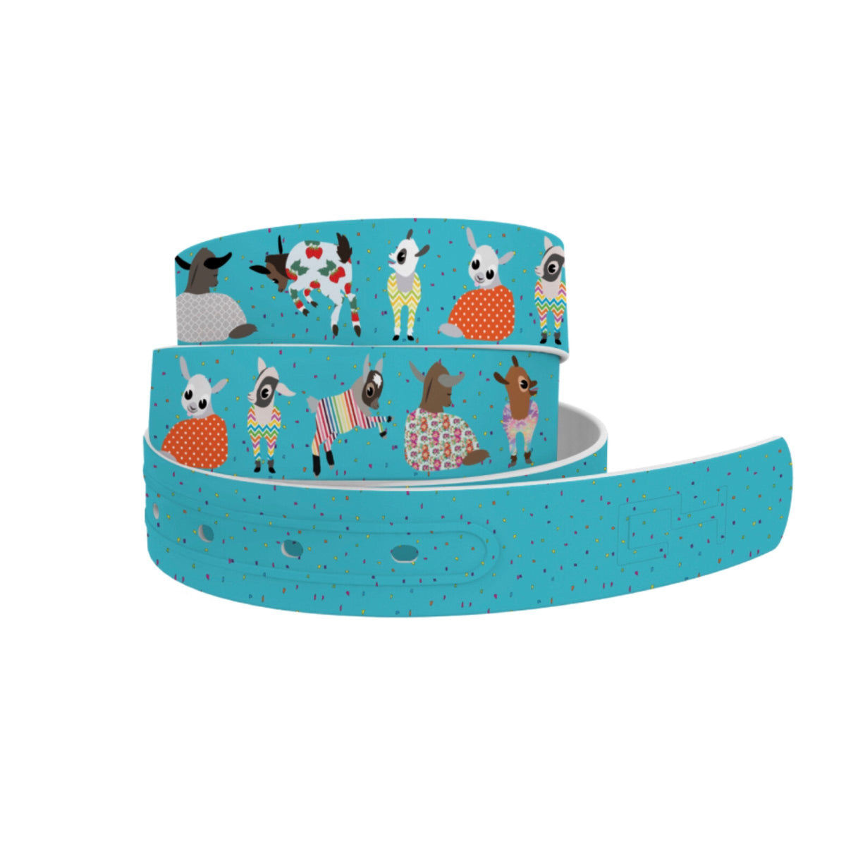 Belts - Matte Buckle C4 Goat Pjama Party