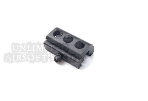 Bipod Adapter Fit for 20mm Rail with 3 holes Black Airsoft