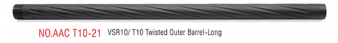 Action Army T10 Twisted outer barrel - Long
