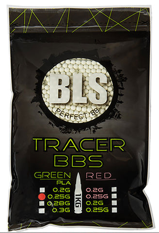 BLS 0.25g Tracer BIO BBs (4000rds) (Green)