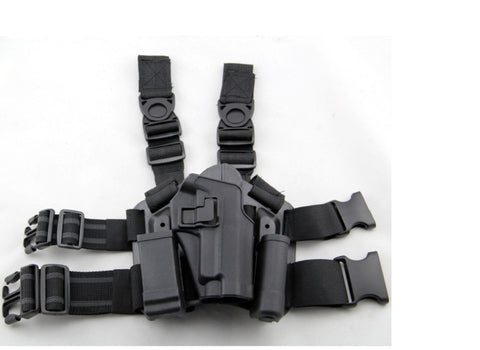 CQC HOLSTER SET W/PLATFORM & MAGAZINE POUCH FOR P226 BLACK