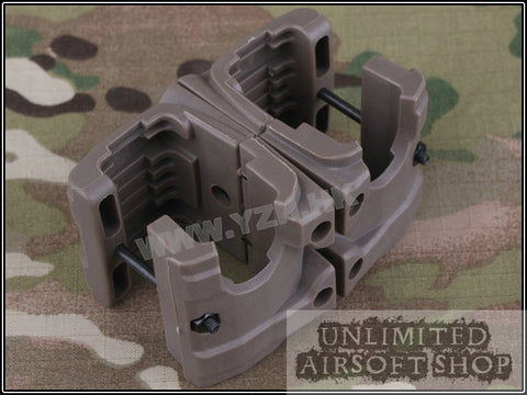 TB-FMA MP7 Double Magazine Clip - Tan