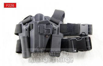 LEFT HAND CQC Holster Set & Mag Pouch for P226 Black