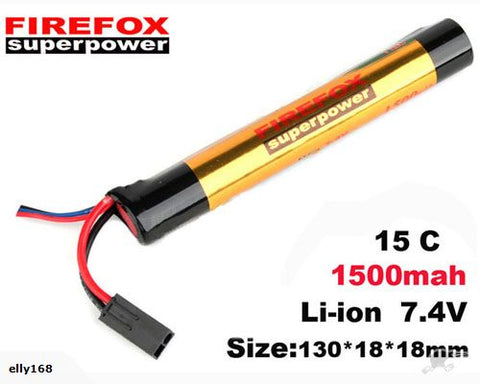 Firefox 7.4V 1500mAh Li-ion Battery 15C