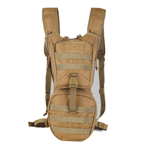 Tactical Hiking Backpack Hydration Bladder Included - Tan