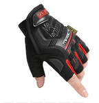 TACTICAL GLOVES HALF FINGER - Red
