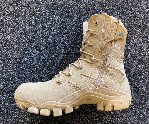 AK WATERPROOF TACTICAL BOOTS OUTDOOR WITH ZIP - TAN
