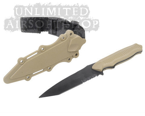 US Army AC-6019 Plastic Knife for Training - Tan