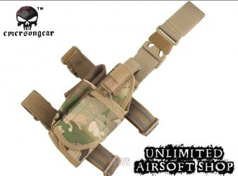 Tactical Universal Pistol Drop Leg Left Hand Holster Muiltcam