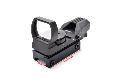 Tactical Red Dot sight 1x22 22mm Red/Green