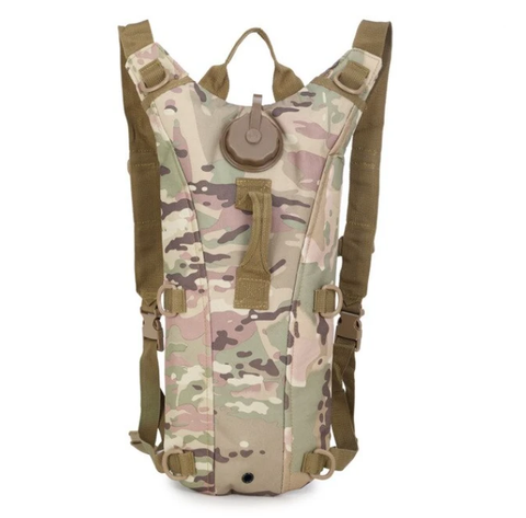 3L Tactical Camel Hydration Pouch Backpack - Muilticam
