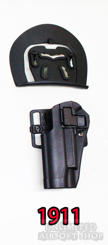 Airsoft Holster with Beltloop for 1911 Black left hand