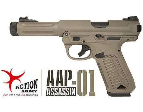 (Pre-order ETA Feb 2021) Action Army Full Auto GBB Pistol AAP-01 - Tan