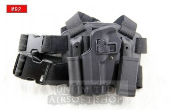 LEFT HAND CQC Holster Set & Mag Pouch for M92 Black