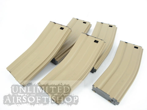 G&G 30R Metal Mag for M4/M16 (Tan) 5pcs