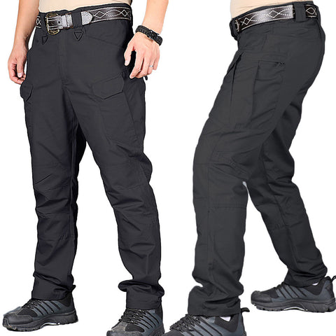 Tactical Men Cargo Waterproof Pants Durable Anti-cut - Black