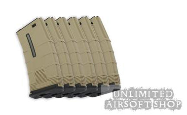 ICS Tactical Low-Cap Magazine Set - Tan (6pcs/Box)