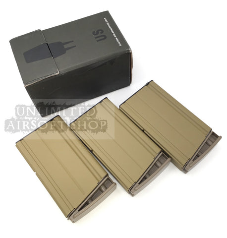 VFC SCAR H 160 Rounds Mid Cap Magazine 3pcs set Tan
