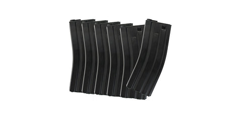 ICS Metal M4 Mid-cap Magazine 120rd 6 Pcs/Box - Black