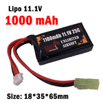 Airsoft 11.1V 1100mAh 25C Lipo Battery - Brick Type
