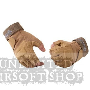 Tactical Half Finger Blackhawk Glove Tan (Size L)