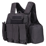 Army Fans Tactical Vest -Black