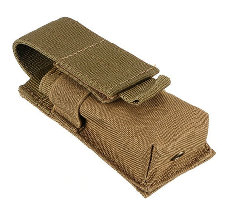 Military Tactical Single Pistol Magazine Pouch-tan