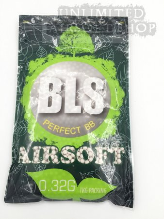 BLS 0.32g Biodegradable BBs WHITE - 1 KG/BAG (3200rds)