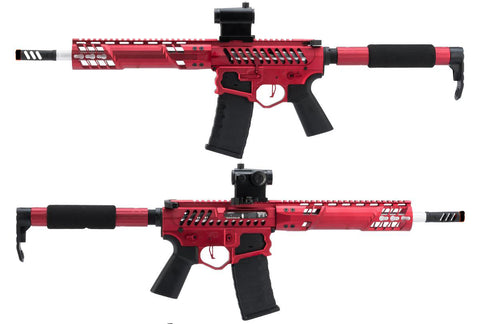 EMG F1 Firearms SBR AEG Training Rifle - Red Catches & Tron Stock