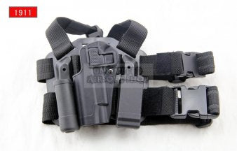 LEFT HAND CQC Holster Set & Mag Pouch for 1911 Black