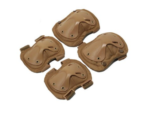 Tactical Knee Pads & Elbow Pads 4pcs/set - Tan