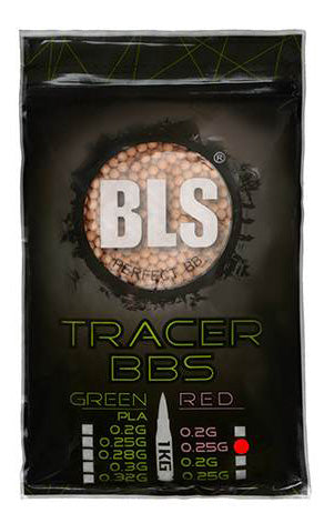 BLS 0.25g Tracer BBs 1KG (4000rds)(Red)